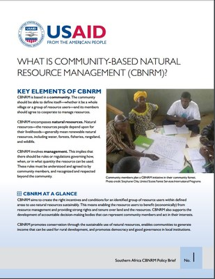 What is community-based natural resource management (CBNRM)?