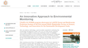 An Innovative Approach to Environmental Monitoring
