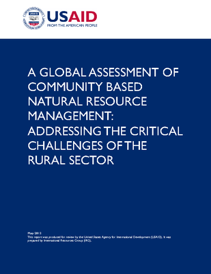 A GLOBAL ASSESSMENT OF COMMUNITY BASED NATURAL RESOURCE MANAGEMENT: