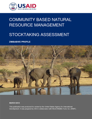 Community Based natural Resource Management Stocktaking Assessment: Zimbabwe Profile