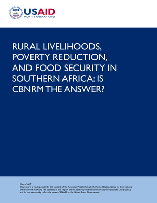Rural Livelihoods, poverty reduction and food security in southern Africa: is CBNRM the answer?