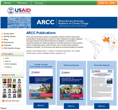 USAID African and Latin American Resilience to Climate Change - ARCC