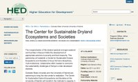 The Center for Sustainable Dryland Ecosystems and Societies
