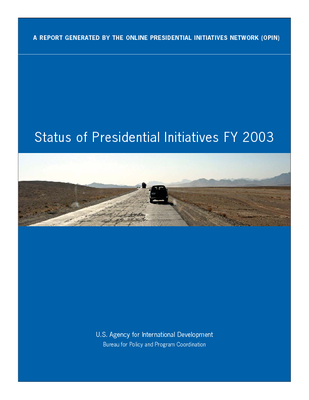 FY03 Report - Presidential Initiatives