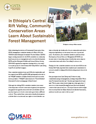 In Ethiopia's Central Rift Valley, Community Conservation Areas Learn About Sustainable Forest Management