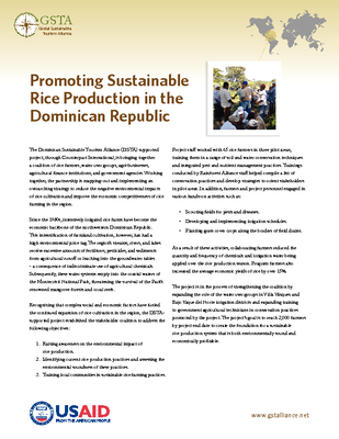 Promoting Sustainable Rice Production in the Dominican Republic