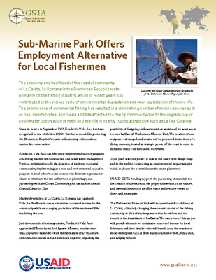 Sub-Marine Park Offers Employment Alternative for Local Fishermen