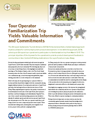 Tour Operator Familiarization Trip Yields Valuable Information and Commitments