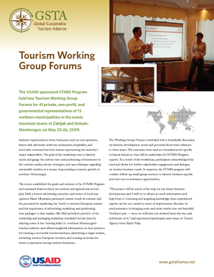 Tourism Working Group Forums