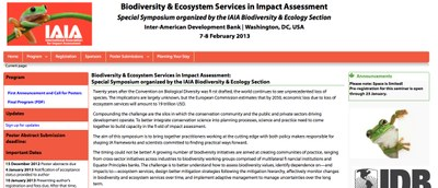 Biodiversity & Ecosystem Services in Impact Assessment: Special Symposium organized by the IAIA Biodiversity & Ecology Section