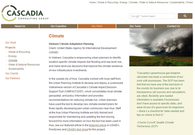 Cascadia - Vietnam Climate Adaptation Planning