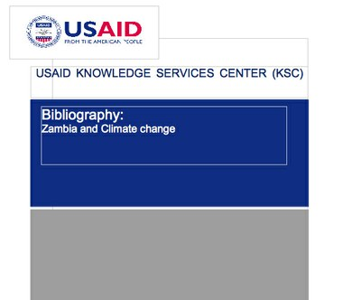 Bibliography:  Zambia and Climate change