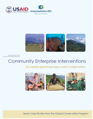 Community Enterprise Interventions for Landscape/Seascape Level Conservation