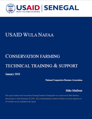 Conservation Farming Technical Training and Support: USAID WULA NAFAA