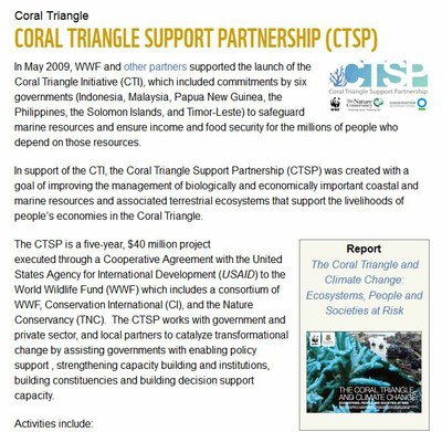 Coral Triangle Support Partnership (CTSP)