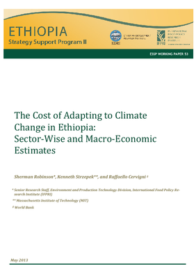 The Cost of Adapting to Climate Change in Ethiopia: Sector - Wise and Macro - E conomic Estimates
