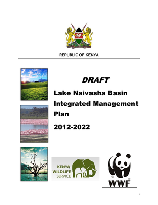 DRAFT - Lake Naivasha Basin Integrated Management Plan: 2012-2022