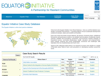 Equator Initiative-Case-Study-Database