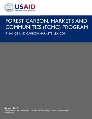 Finance and Carbon Markets Lexicon