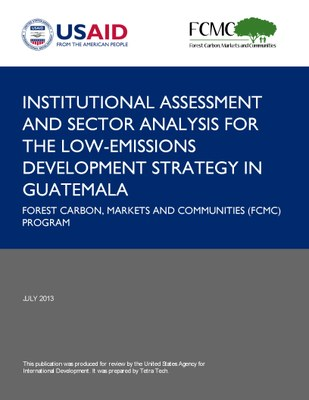Institutional Assessment and Sector Analysis for the Low-Emissions Development Strategy in Guatemala
