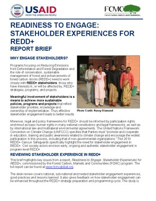 Report Brief: Stakeholder Engagement Experiences for REDD+