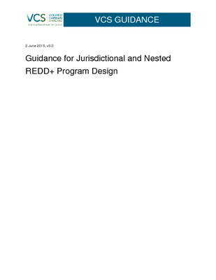 Guidance for Jurisdictional and Nested REDD+ Program Design