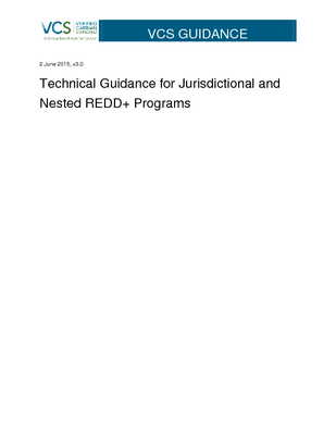 Technical Guidance for Jurisdictional and Nested REDD+ Programs