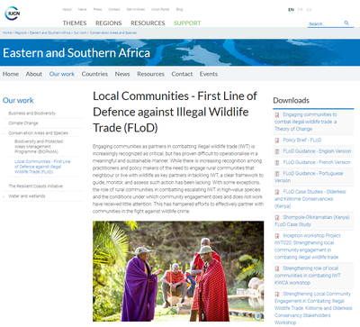 Local Communities - First Line of Defence against Illegal Wildlife Trade