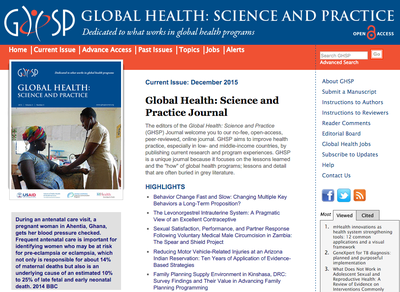 Global Health: Science and Practice Journal