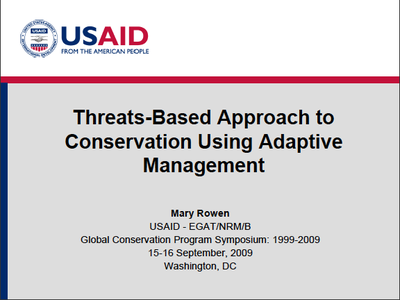 Threats-Based Approach to Conservation Using Adaptive Management