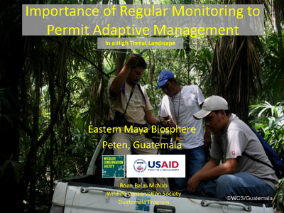Importance of Regular Monitoring to Permit Adaptive Management