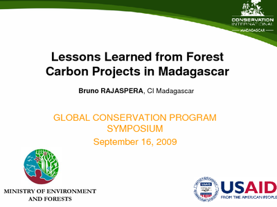 Lessons Learned from Forest Carbon Projects in Madagascar