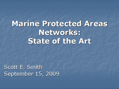 Marine Protected Areas Networks: State of the Art
