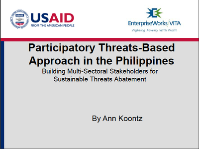 Participatory Threats-Based Approach in the Philippines: Building Multi-Sectoral Stakeholders for Sustainable Threats Abatement