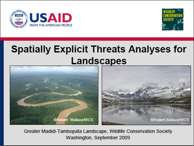 Spatially Explicit Threats Analyses for Landscapes
