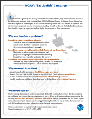 Ecological Impacts of Lionfish