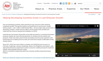 Helping Developing Countries Invest in Low-Emission Growth