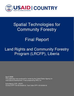 Spatial Technologies for Community Forestry