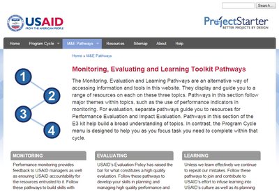 Monitoring, Evaluating and Learning Toolkit Pathways