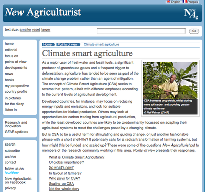 New Agriculturist: Points of View - Climate Smart Agriculture