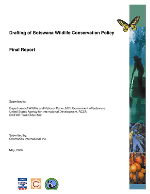 Drafting of Botswana Wildlife Conservation policy: Final report