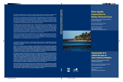 Water quality conservation in marine protected areas: A case study of Parque Nacional del Este, Dominican Republic