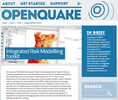 OpenQuake: Integrated Risk Modelling Toolkit