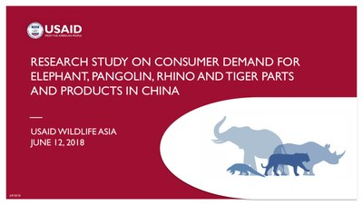 Research Study on Consumer Demand for Elephant, Pangolin, Rhino and Tiger Parts and Products in China (English)