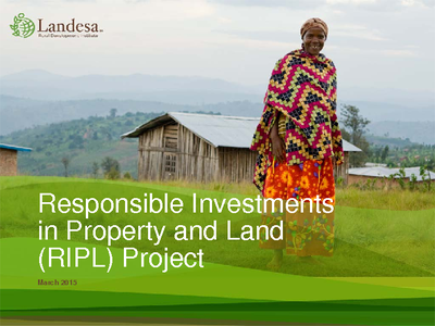 Responsible Investments in Property and Land Power Point Presentation