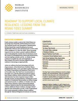Roadmap to Support Local Climate Resilience