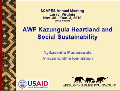 SCAPES: AWF Kazungula Heartland and Social Sustainability