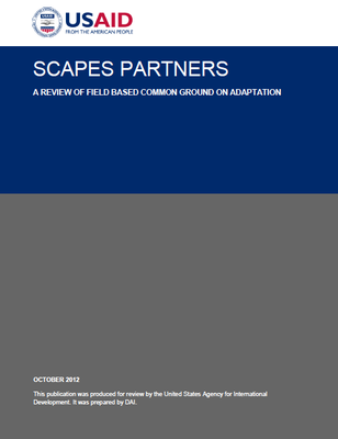 Scapes Partners: A Review Of Field Based Common Ground On Adaptation