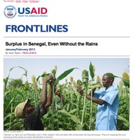 USAID Frontlines January/February 2013: Surplus in Senegal, Even Without the Rains