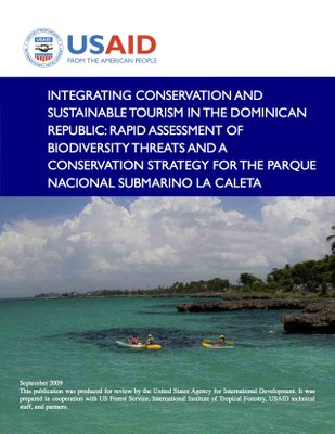 Integrating Conservation and Sustainable Tourism in the Dominican Republic: Rapid Assessment of Biodiversity Threats and a Conservation Strategy for the Parque Submarino La Caleta